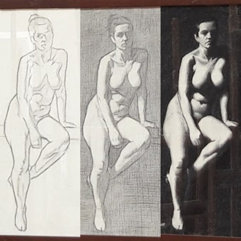 figure drawing Step by step Florence Academy of art
