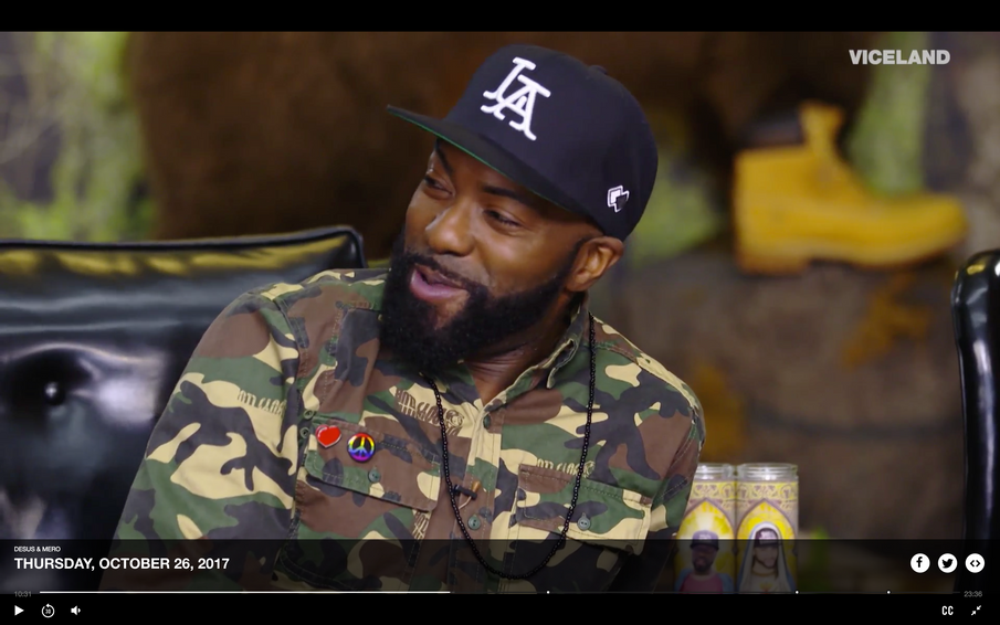 "Our  ""L A"" cap featured on DESUS & MERO, the #1 late nite TV show!"