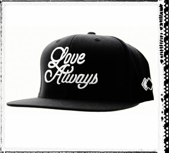 LOVE ALWAYS_ Black Snapback Cap