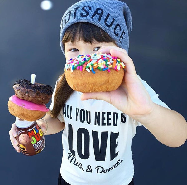 All You Need is LOVE Milk & Donuts Organic Tee and Onesie