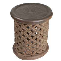 Lattice Carved Drum Table 3