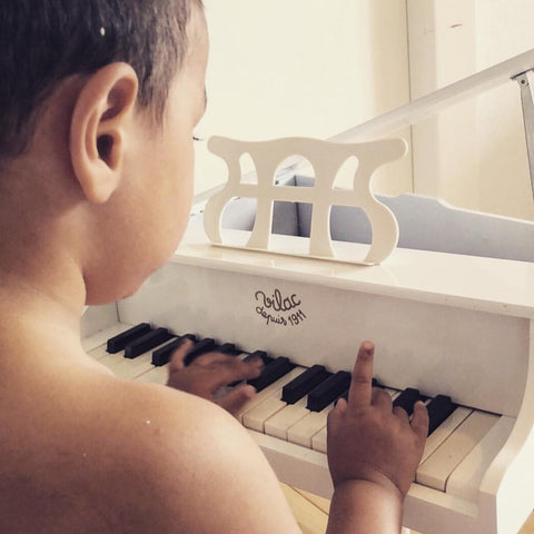 Vilac White piano musical instrument kids swanky boutique