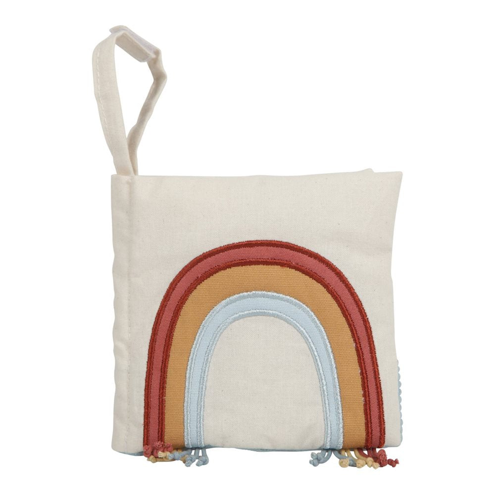 Little Dutch Soft Stroller Activity Book Organic Cotton Rainbow