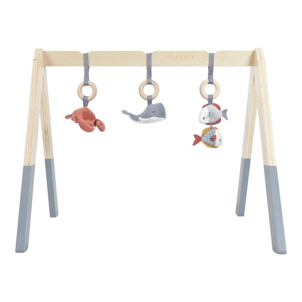 Little Dutch Wooden Baby Gym - Blue