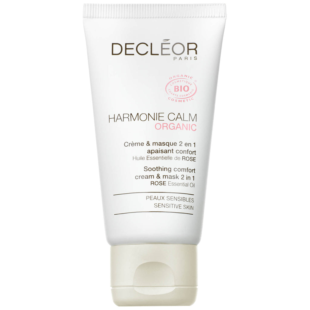 DECLEOR ORGANIC HARMONIE CALM SOOTHING COMFORT 2 IN 1 CREAM & MASK
