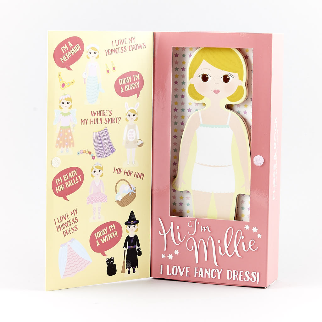 Wooden Magnetic Dress Up Doll - Millie