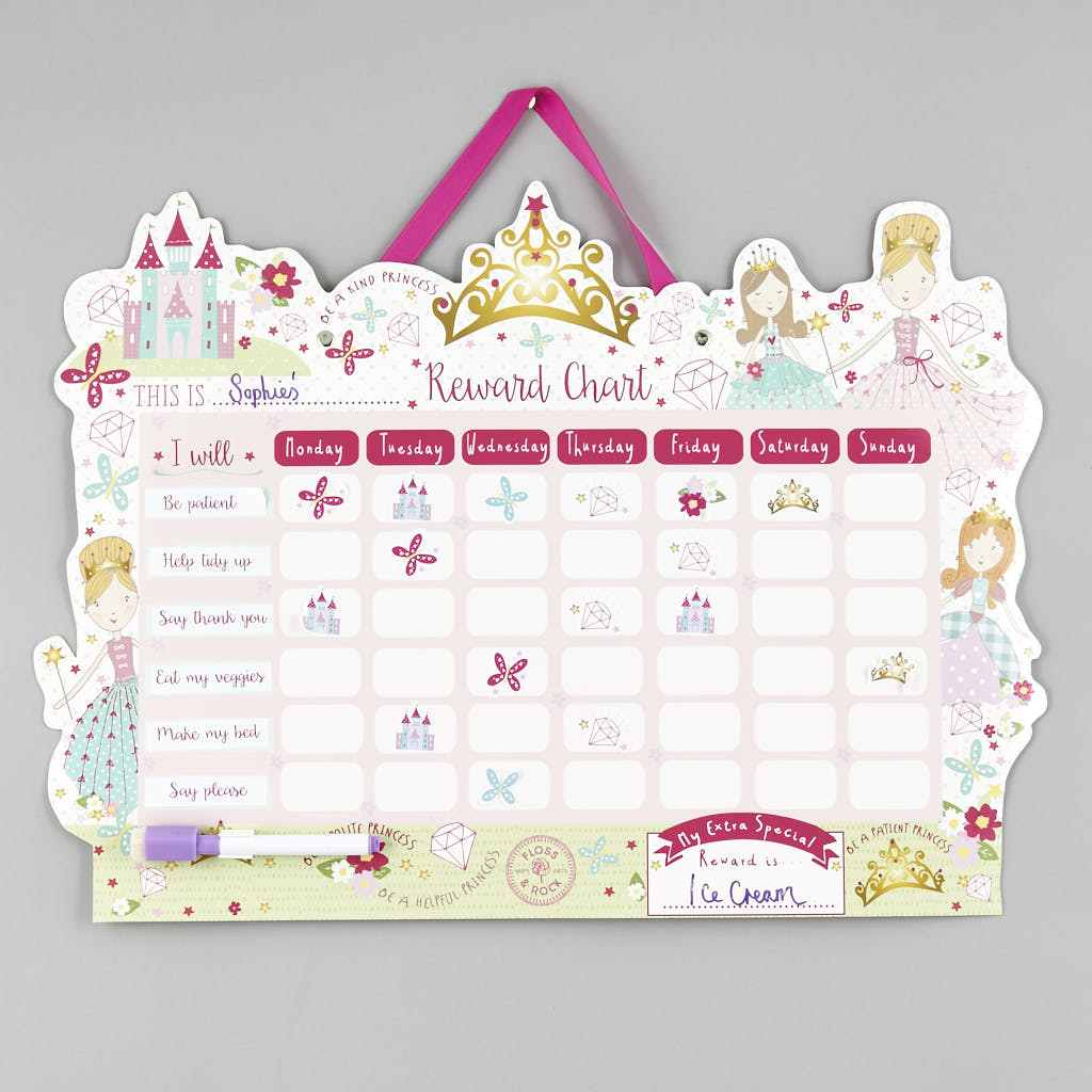 Floss and Rock Princess Reward Chart