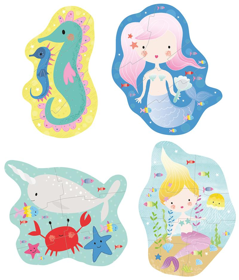 Floss and Rock Jigsaw Puzzle 3, 4, 6 & 8 pieces - Mermaid