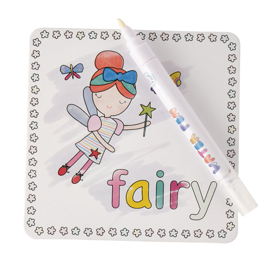 Magic Water Colour-In Cards - Rainbow Fairy