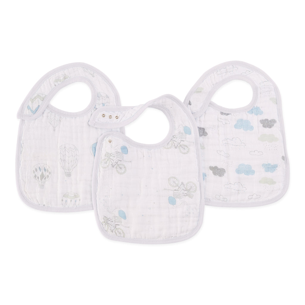 aden + anais classic snap bibs - night sky reverie 3-pack