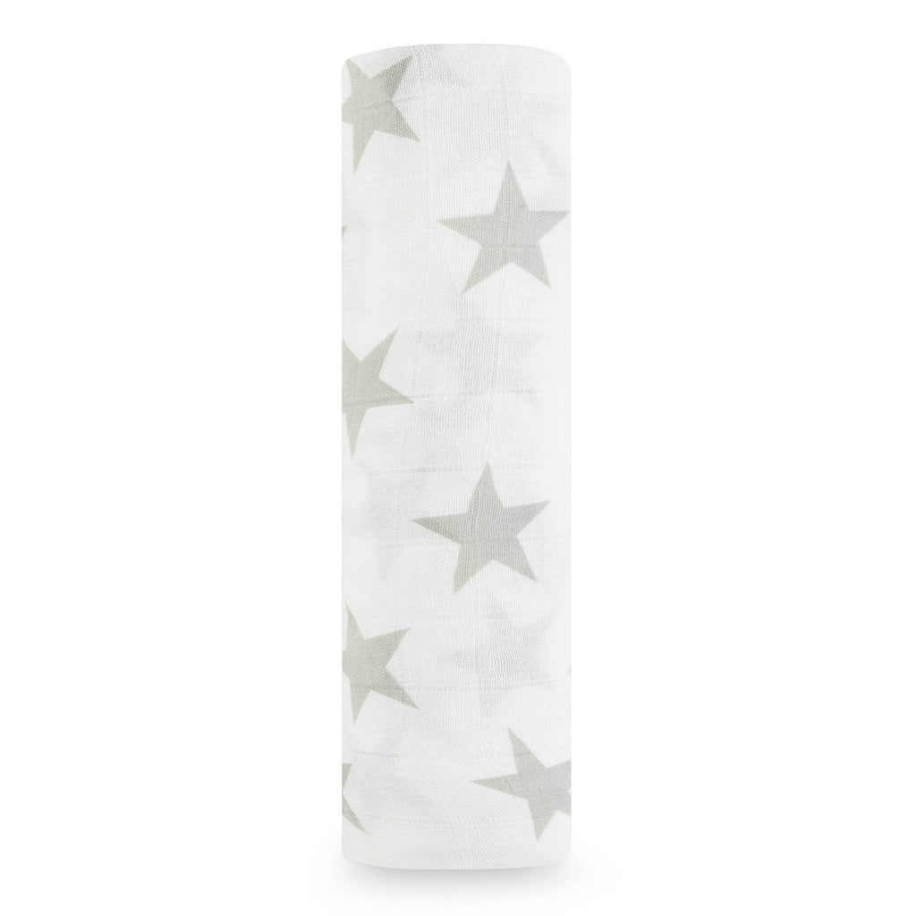 aden + anais milky way silver star silky soft swaddle