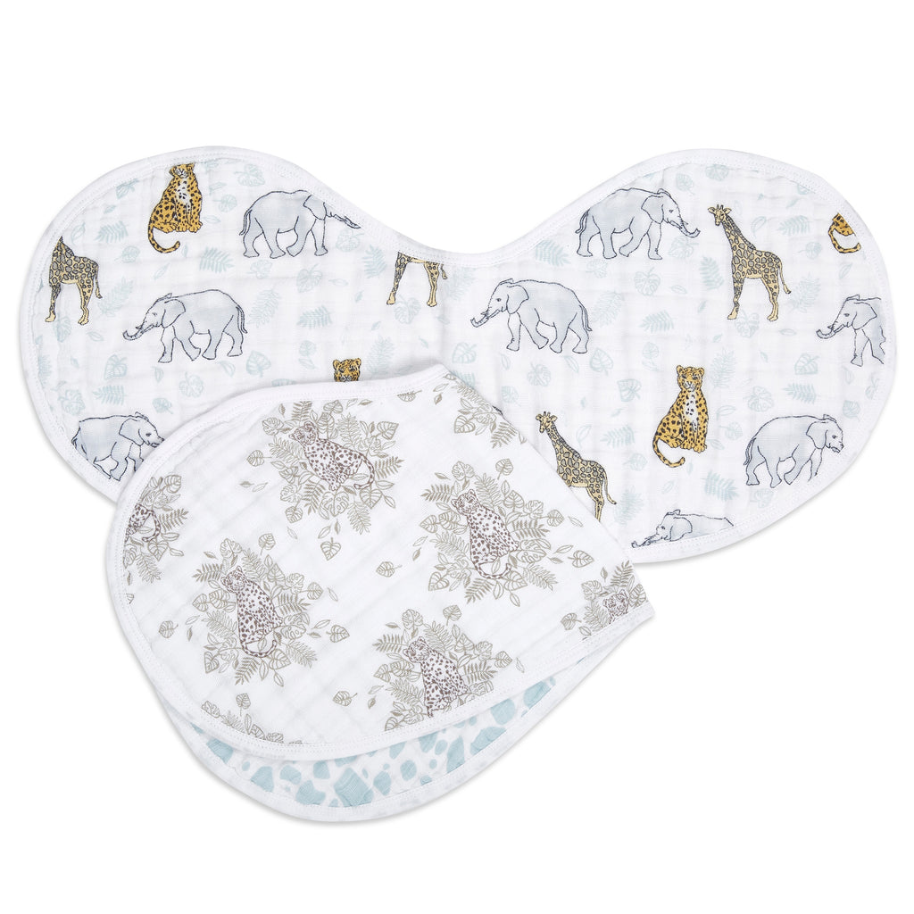 aden + anais jungle 2-pack classic burpy bibs