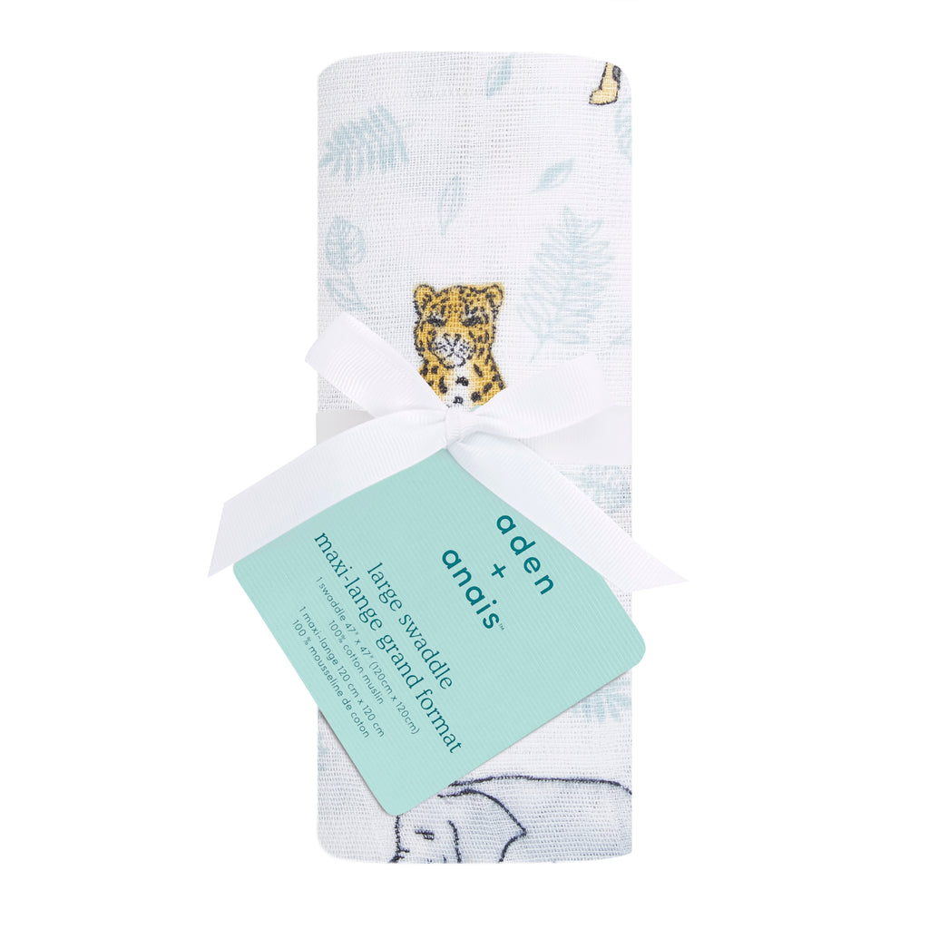 aden + anais classic single swaddle - jungle - tropical