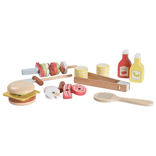 Stoy Wooden BBQ Set