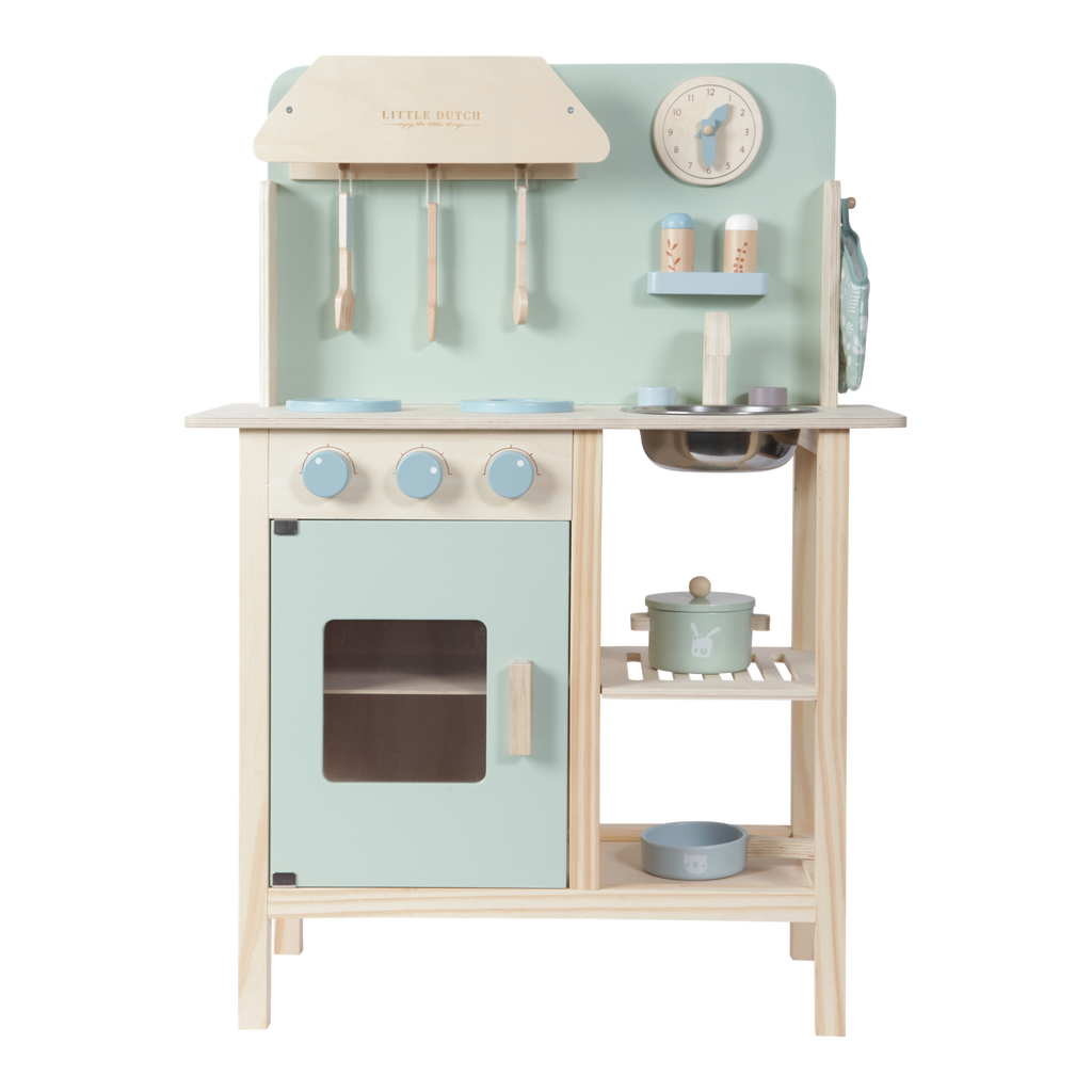 Little Dutch Wooden Play Kitchen - Mint