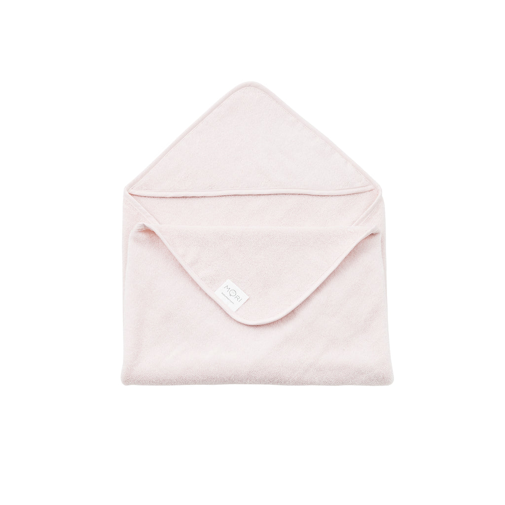 MORI Hooded Baby Bath Towel - Blush Pink
