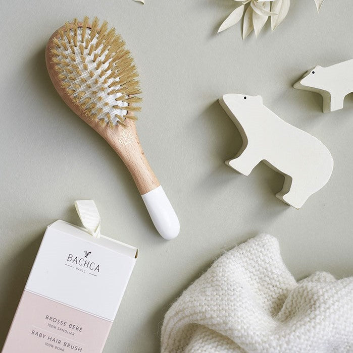 Bachca Paris - Wooden Baby Hair Brush