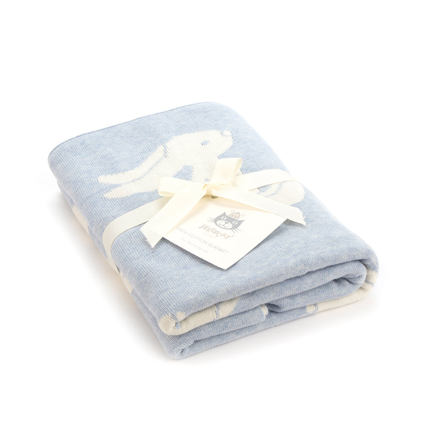 Jellycat Blue Bashful Bunny Blanket