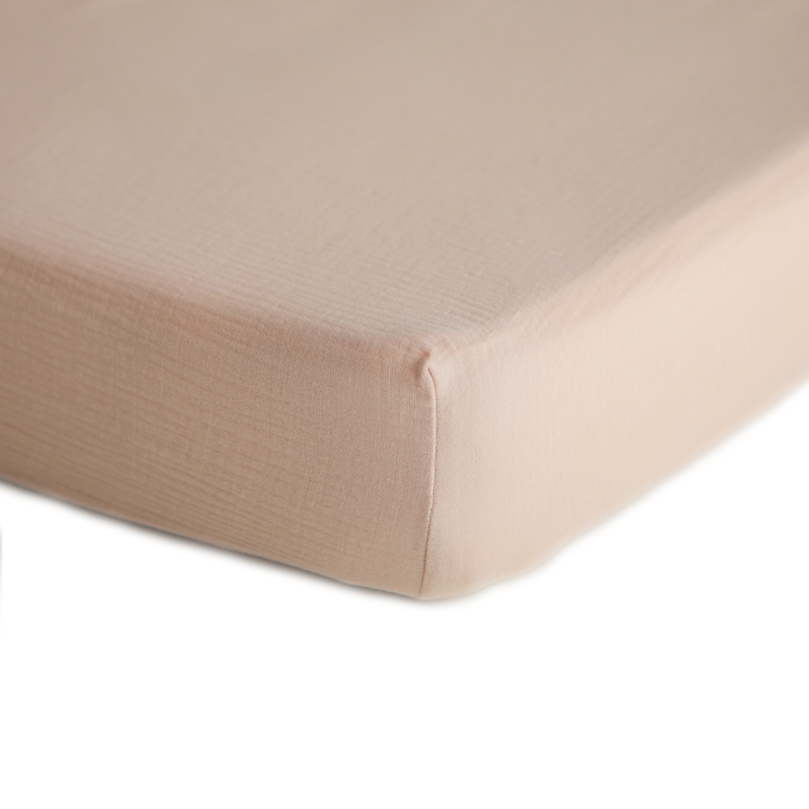 Crib Sheet, Extra Soft Muslin - Blush Pink
