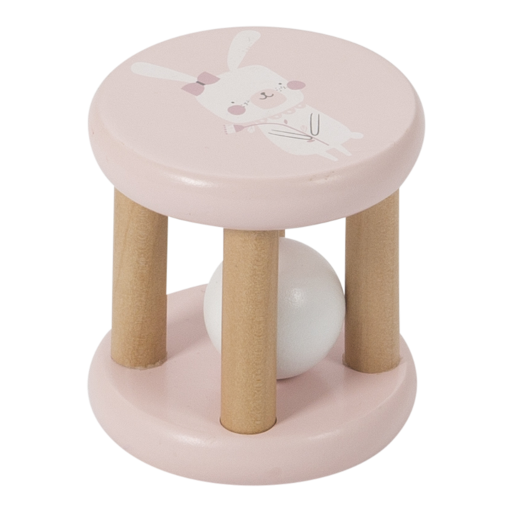 Little Dutch Wooden Roller Rattle - Pink