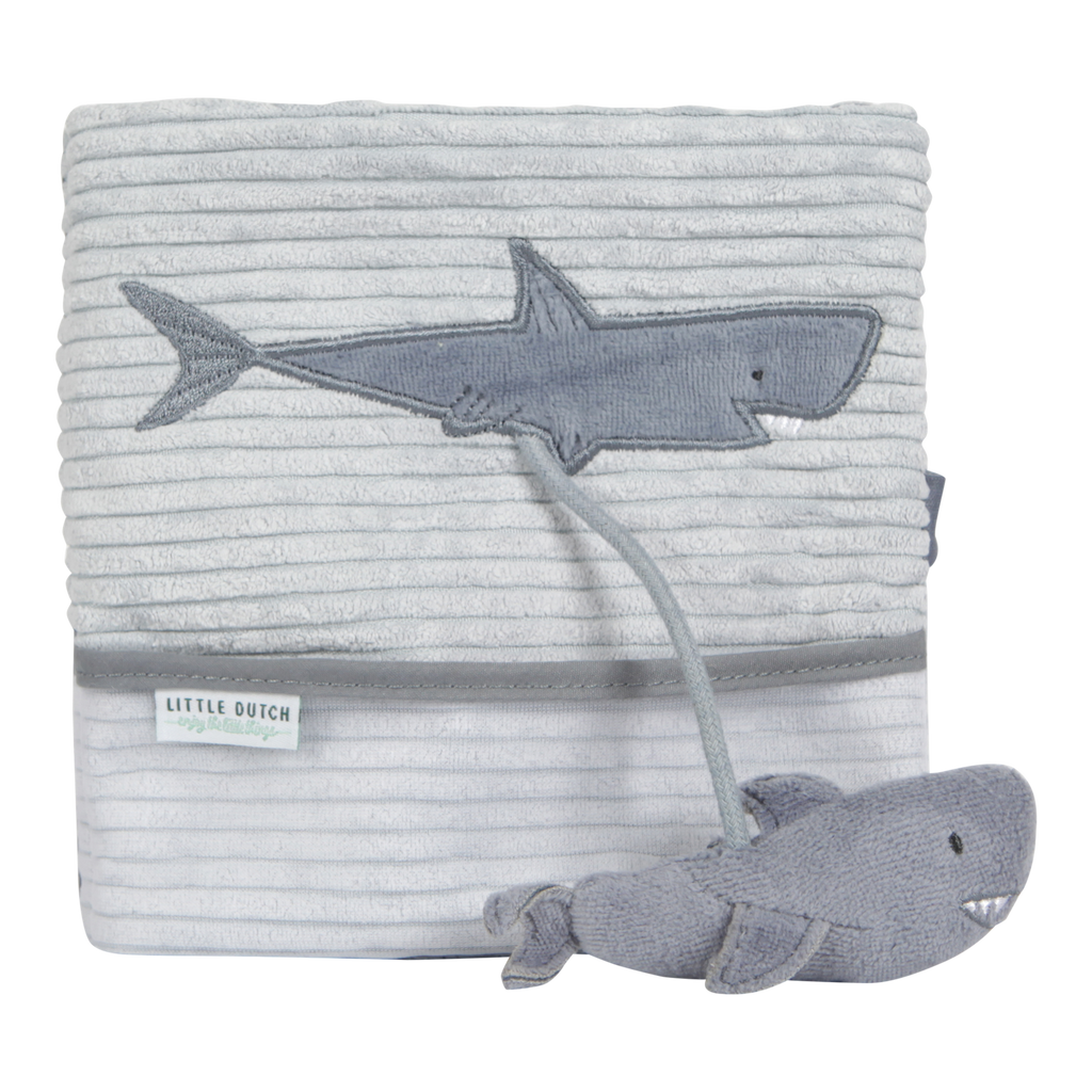 Little Dutch Soft Activity Book - Shark Blue