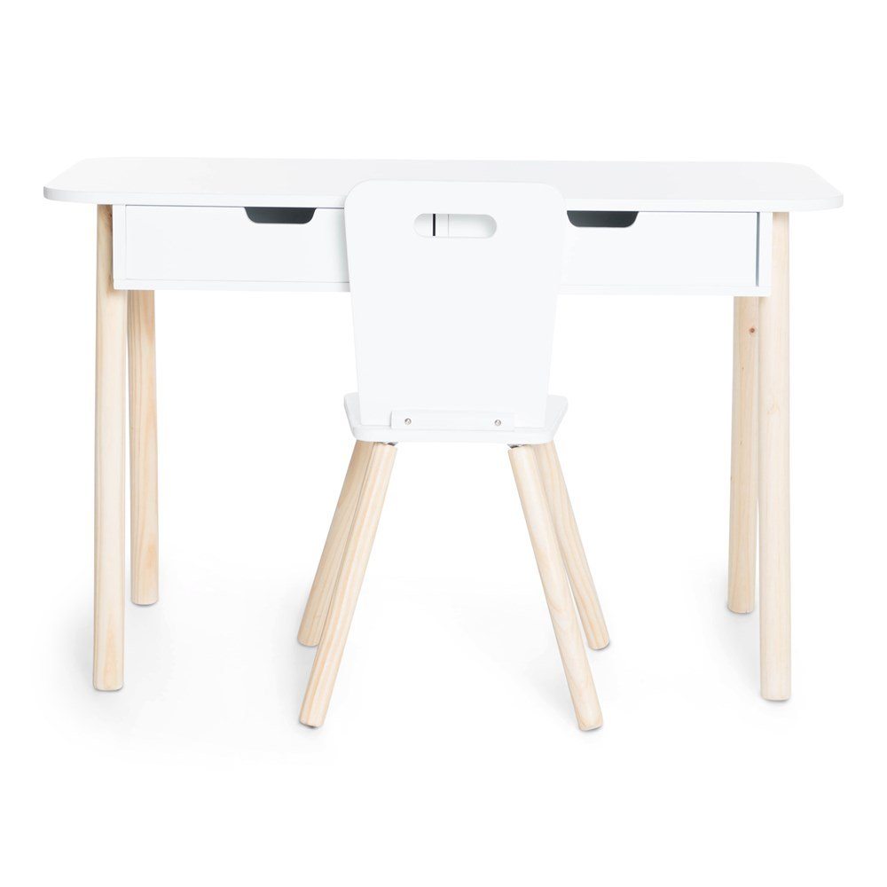 Kids Desk + Chair - White