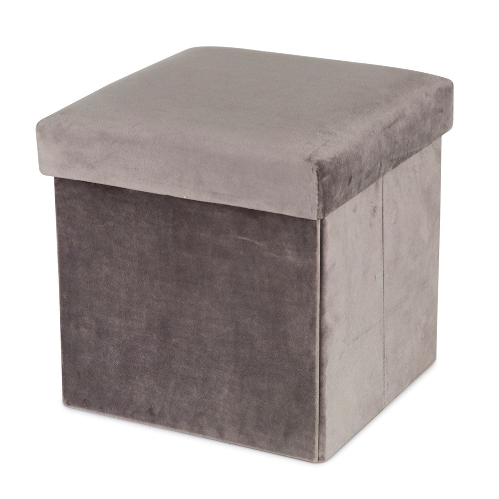 Foldable Storage Box - Velvet Grey