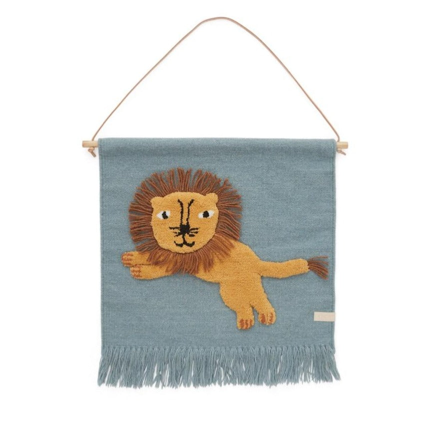 OYOY MINI Wallhanger - Jumping Lion