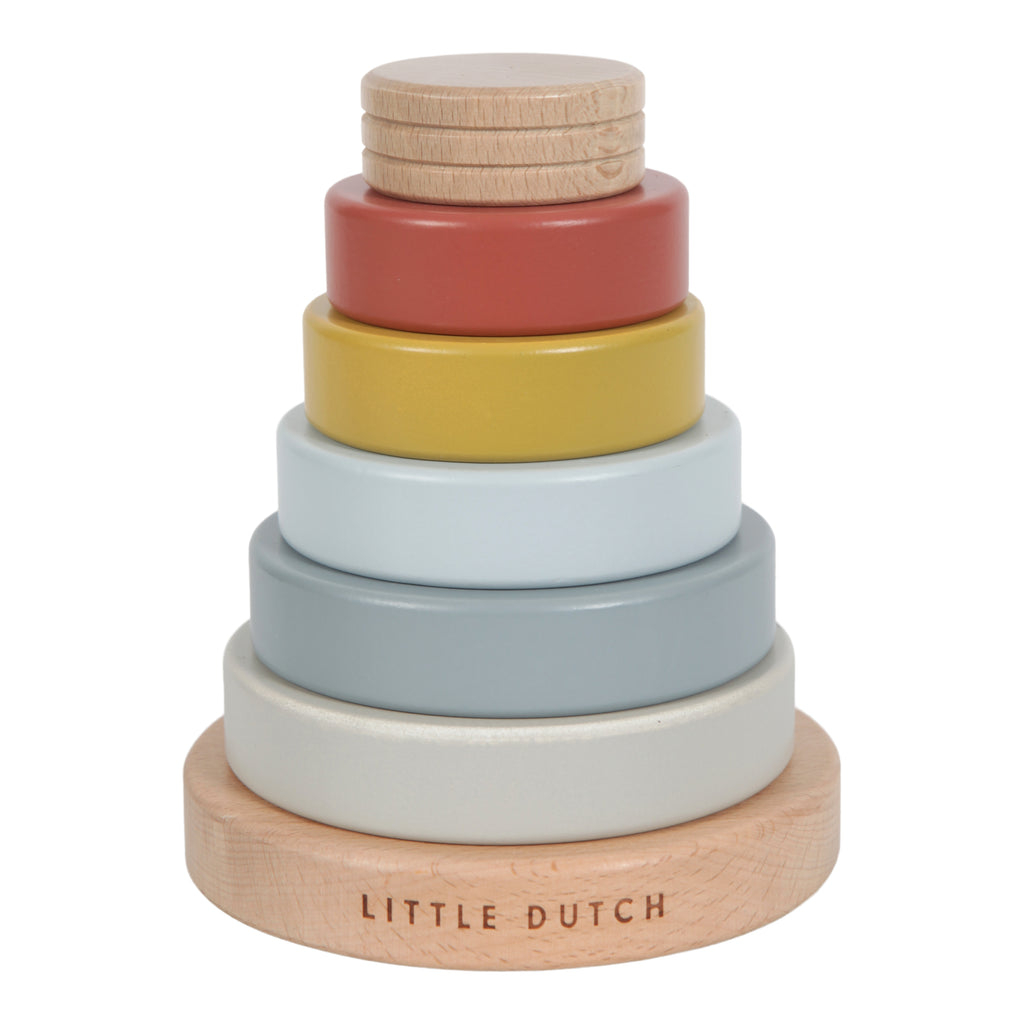 Little Dutch Wooden Stacking Rings - Pure & Nature