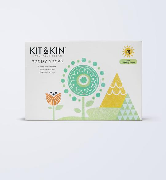 Kit & Kin Eco Nappy Sacks (60 pack)