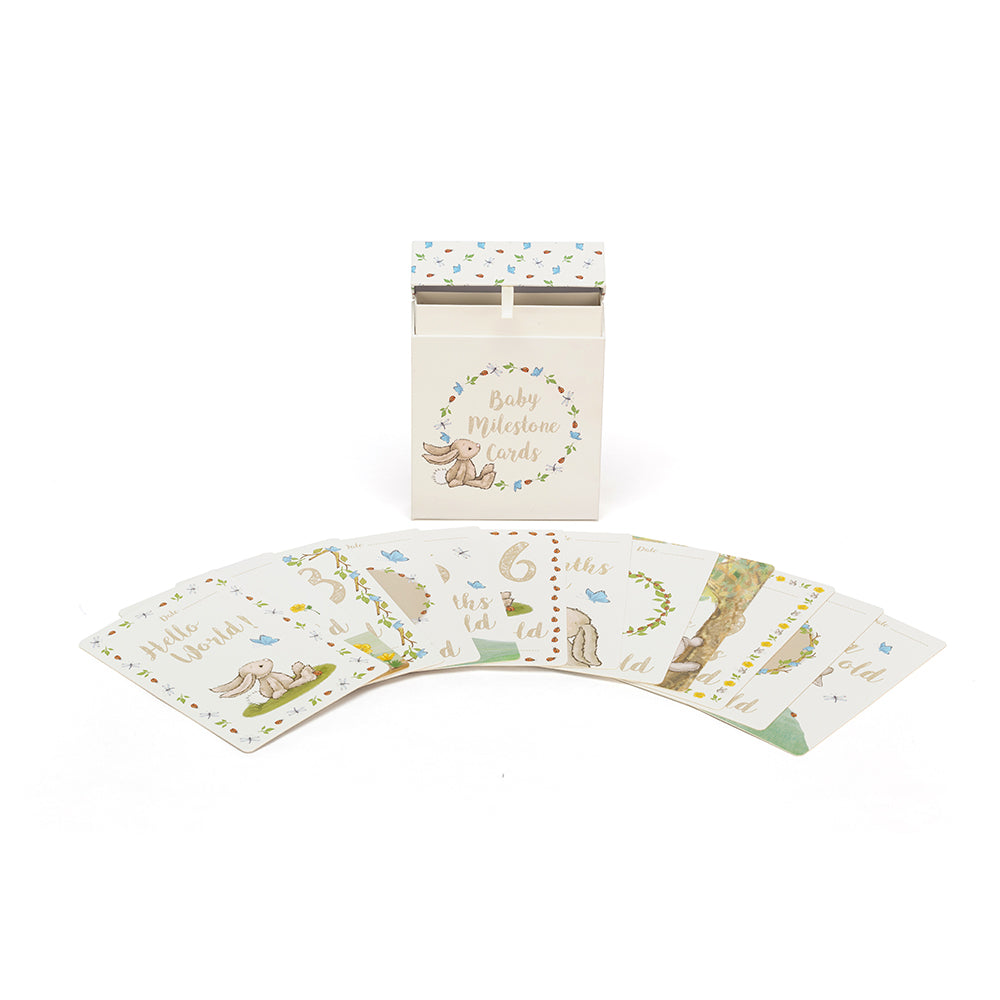 Jellycat Baby's First Bashful Bunny Milestone Photo Cards