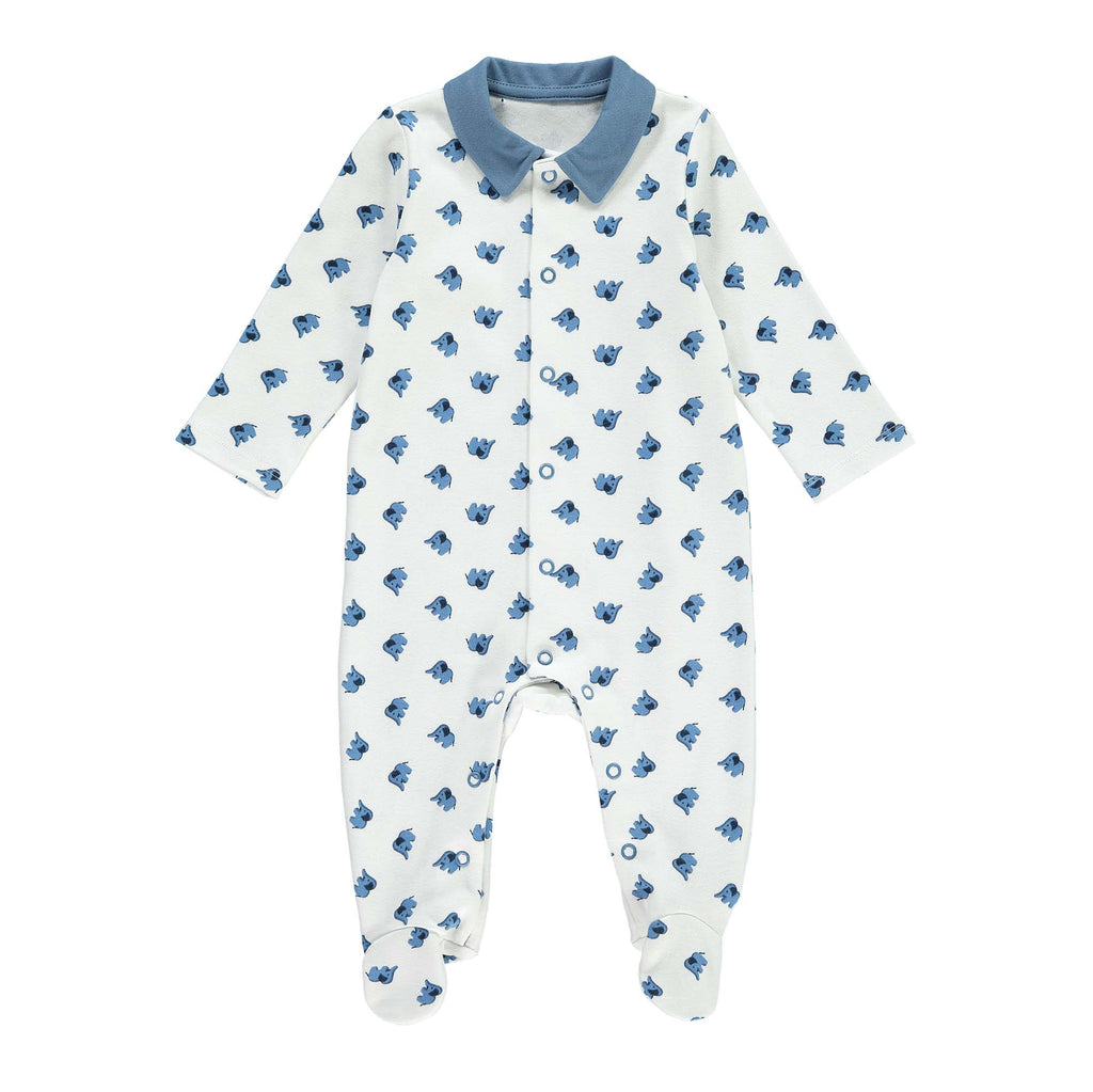 Rachel Riley Elephant Collared Babygrow 3-6 months