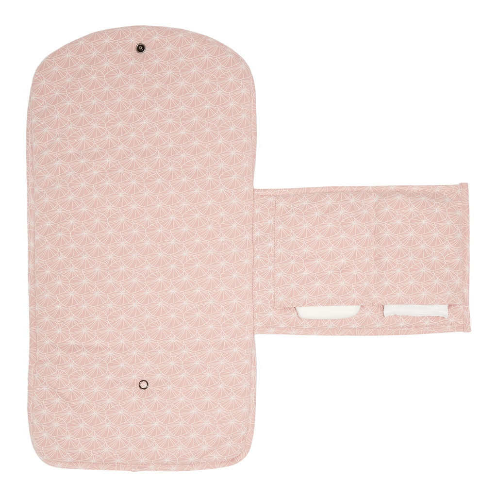 Little Dutch Organic Comfort Changing Pad - Lily Leaves Pink