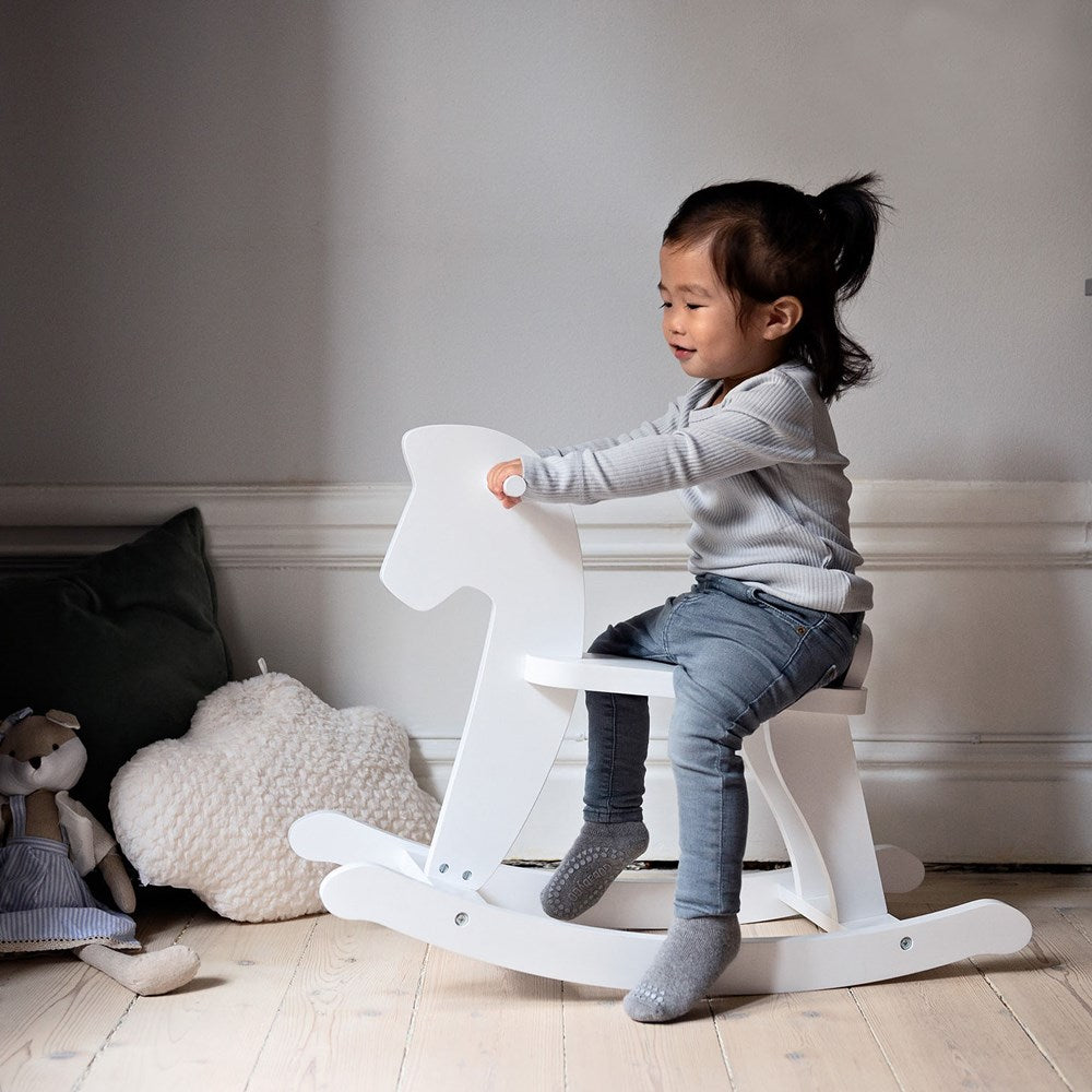 Stoy Wooden Rocking Horse - White