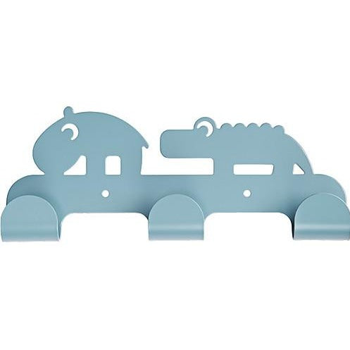 Done by Deer Kids Coat Hanger with 3 hooks - blue
