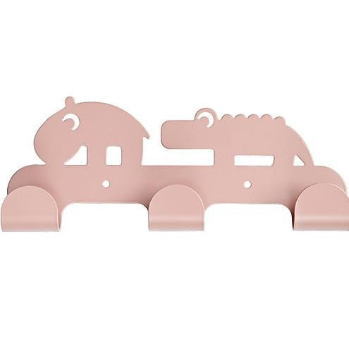Done by Deer Kids Coat Hanger with 3 hooks - pink