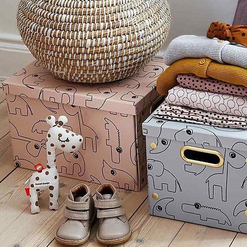 Done by Deer Toy Storage Box - Blue