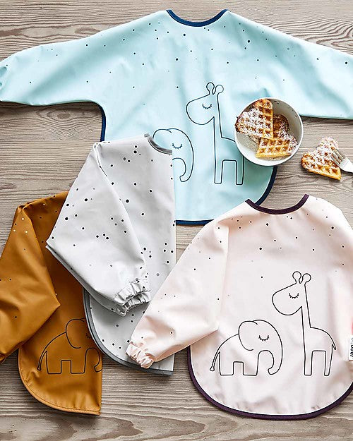 Done by Deer Long Sleeved Bib - Blue