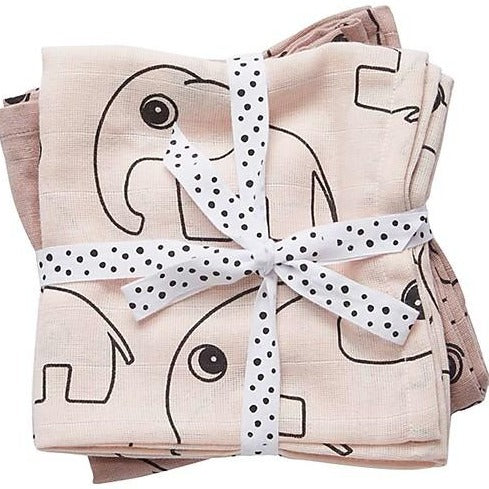 Done by Deer Swaddle, 2-pack - Powder Pink