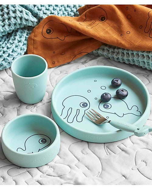 Done by Deer Silicone Food Set - Friends of the Sea Blue