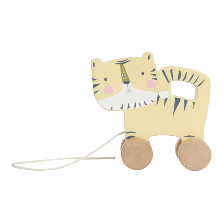 Little Dutch Wooden pull along animal - tiger