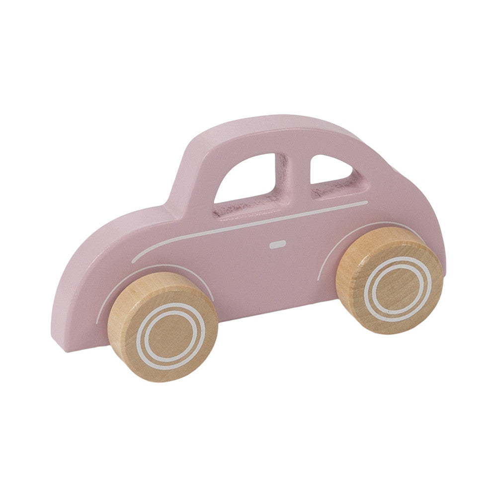 Little Dutch wooden toy car pink