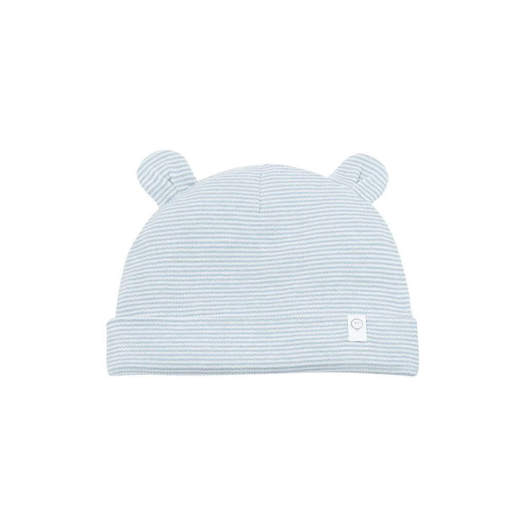 MORI Baby Bear Hat - Blue Stripe 3-6 months