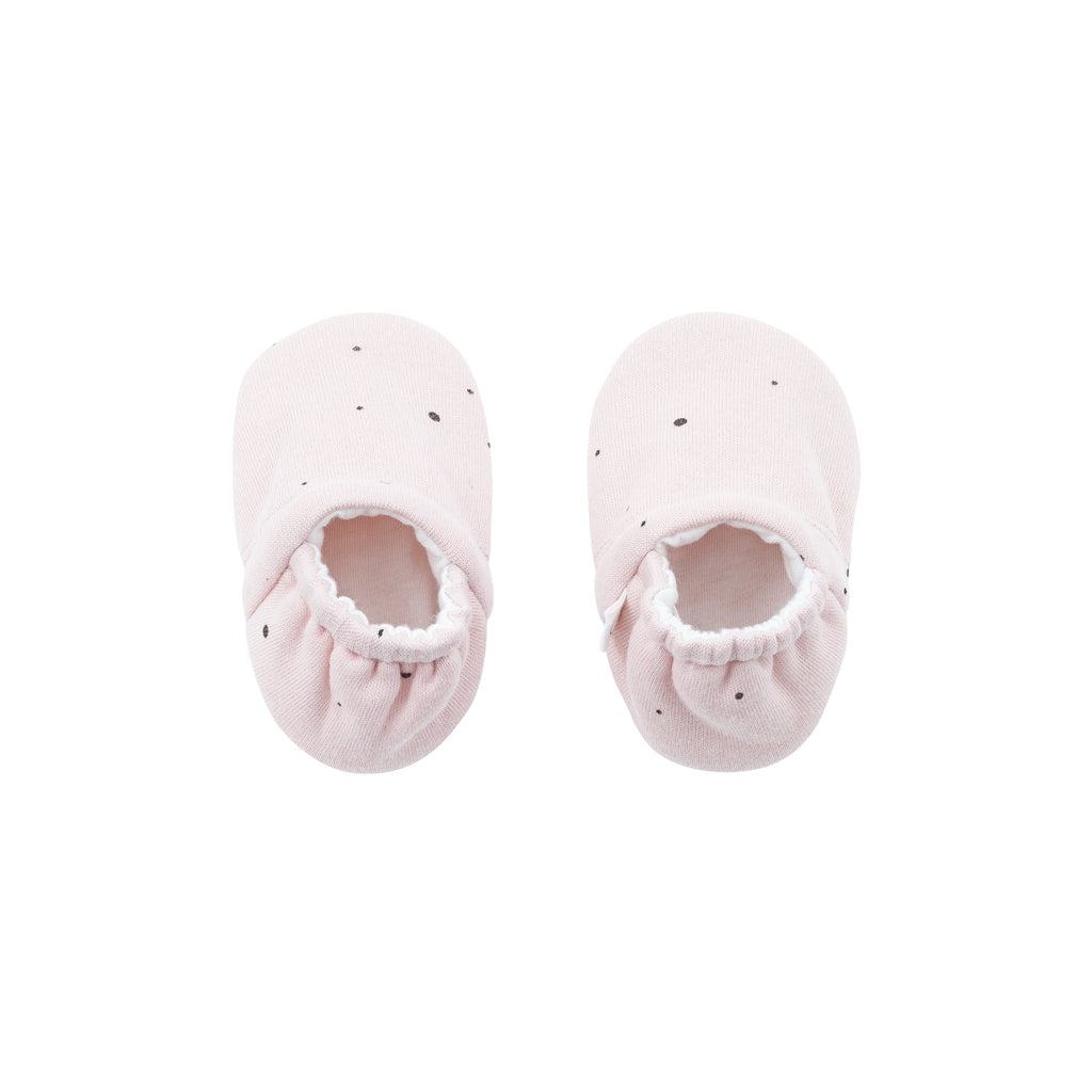 MORI Baby Booties- Pink Stardust 3-6 months