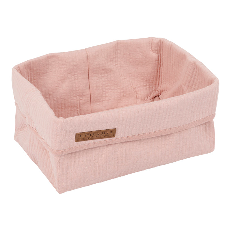 Little Dutch Organic Baby Storage Basket, Large - Pink