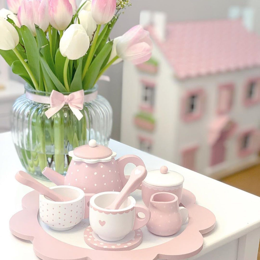 Little Dutch Wooden Tea Set - Pink
