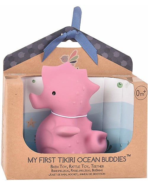Tikiri 3-in-1 Bath Toy, Rattle & Teether - Seahorse