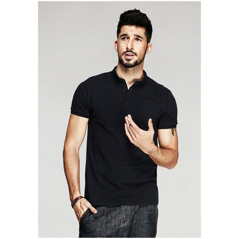 Classic Solid Black Polo Tee - Haberfasher