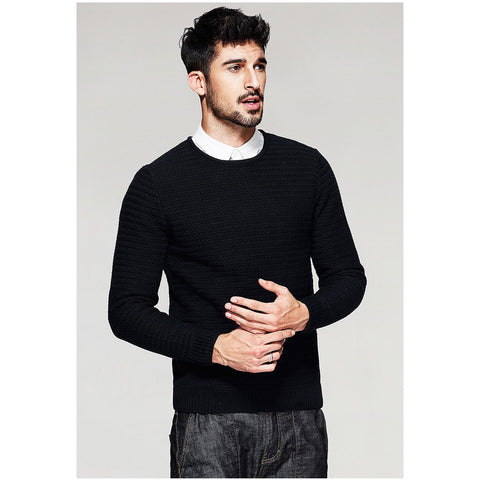 Lana Knitted Black Crew Neck Pullover - Haberfasher