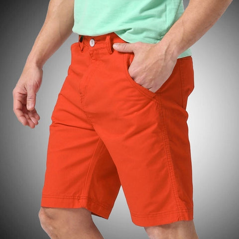 Damien Solid Orange Shorts - Haberfasher